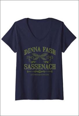T-Shirt Femme Outlander Dinna Fash Sassenach 1945 - 1783
