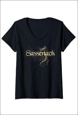 T-Shirt Outlander Femme Sassenach, avec motif Libellule