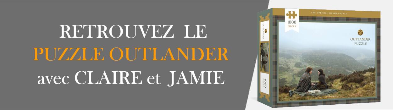 Puzzle 1000 pieces Outlander, Claire et Jamie