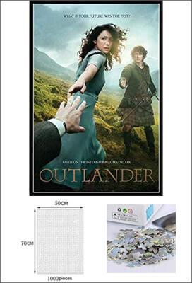 Puzzle Outlander saison 1 Jamie Claire 1000 pièces