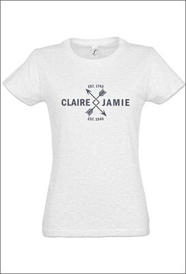 Tee-Shirt Col Rond Outlander Femme - Claire & Jamie