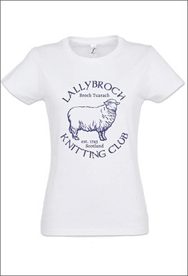 Tee Shirt Femme Outlander - Lallybroch Knitting Club - Logo Mouton